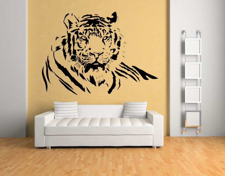 Get Inspiring : Make Your Own Wall Art : Amazing Tiger Wall Art Stickers Part 72