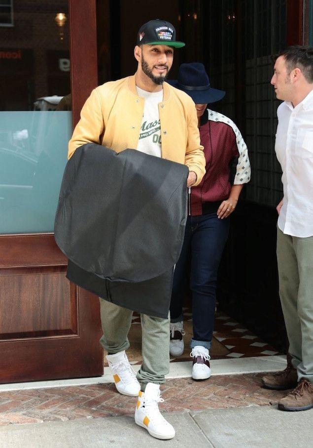 Swizz Beatz Wears Saint Laurent Sneakers and Alicia Keys Wears Valentino Sneakers in NYC | UpscaleHype