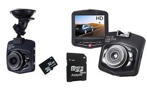 """Ideal for car drivers, this Full HD car camera features compact size, low power consumption, 2.4"""" LCD and 170 degree ultra wide-angle lens"""