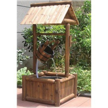 Wooden Garden Wishing Well Fountain.  Garden Fountains Archives - Page 4 of 4 - Best Indoor Fountains