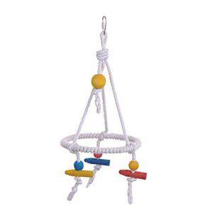 Corde Tri Cages jouets swing Parrot Toy perruche calopsitte Conure Oiseau Toy Bar