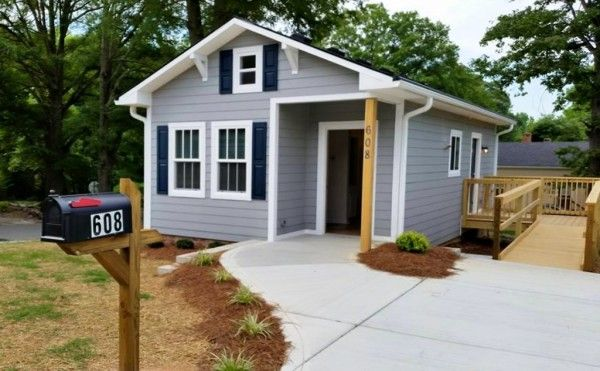 Tiny House COMPLETE this is also a Habitat For Humanity house with universal design and wheelchair accessibility.