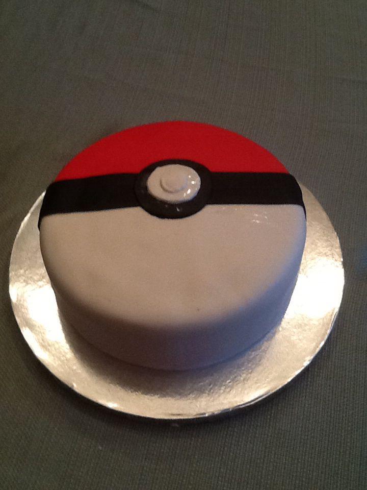 Pokemon ball cake @ sugar addicts cake shop