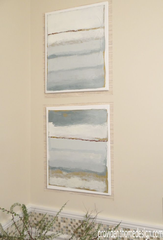 DIY Coastal Paintings - Ballard Designs Cote De La Mer knockoff