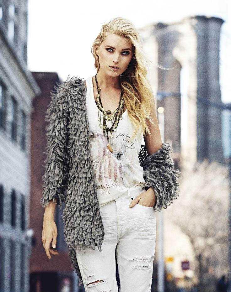 Elsa Hosk In New York