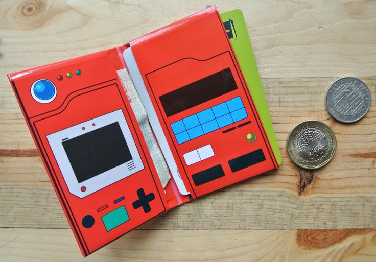 Pokédex mini wallet Pattern #pokédex	#pokemon	#wallet	#billetera	#diy	#origami	#card holder	#card	#friki	#anime	#holster	#envelope	#slim wallet