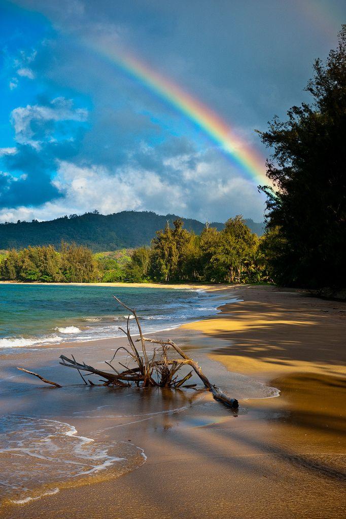 So far the most breathtaking place I've been! Kauai Rainbow - Hawaii