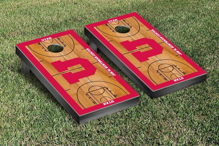 Utah Utes Basketball Court Cornhole Game Set