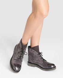 Botas de mujer de Weekend de serraje grises