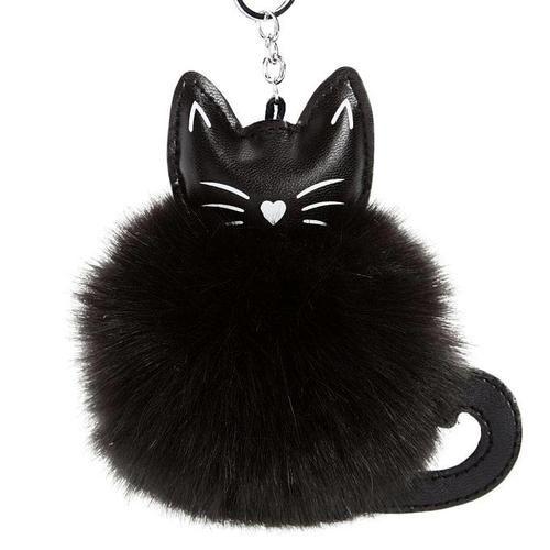 Fluffy Cat Charm Key Ring