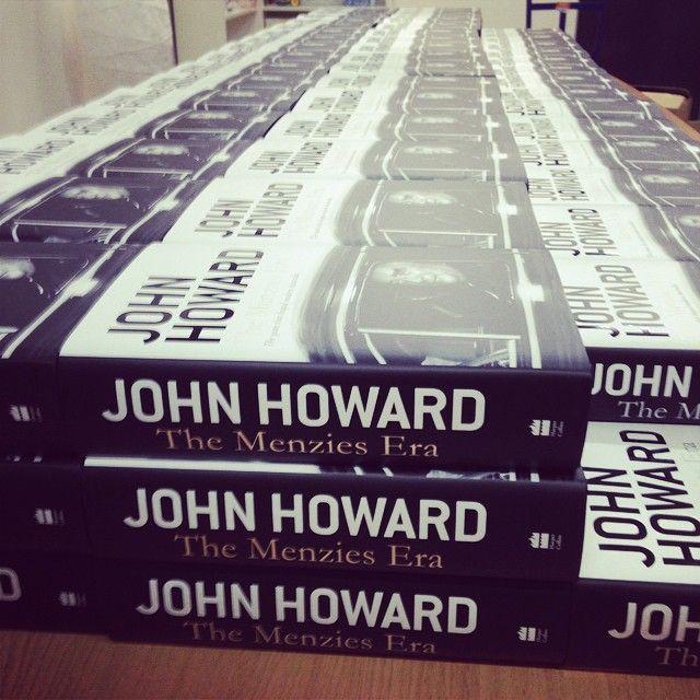 Stacking some Howards #TheMenziesEra #bookstagram #auspol #books #booksigning #bookish #politics
