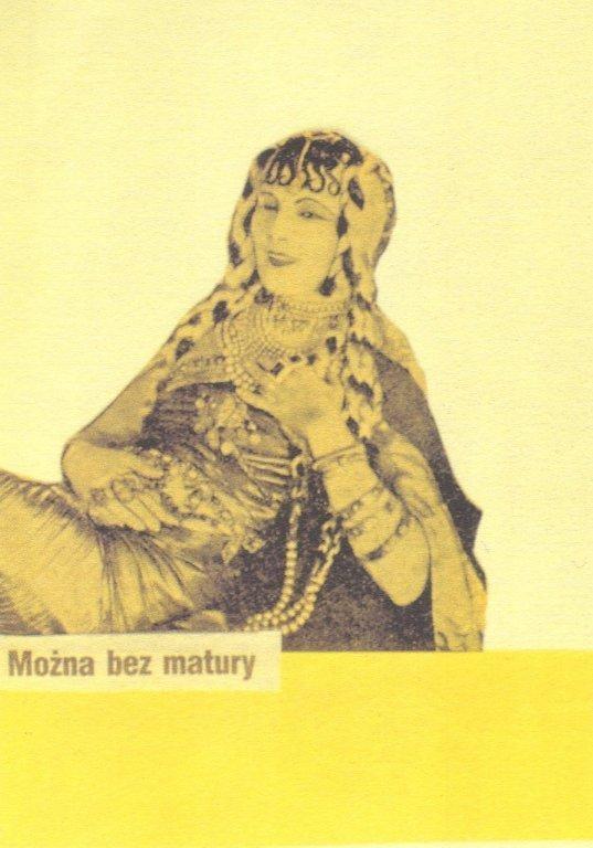 Collage Postcard by Wislawa Szymborska (Harem Girl)