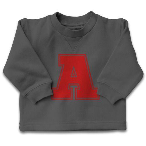Fleece Jumper Letter-Personalized jumper, Initial letter, personalised design