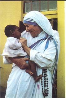 Mother Teresa, another awesome role model.