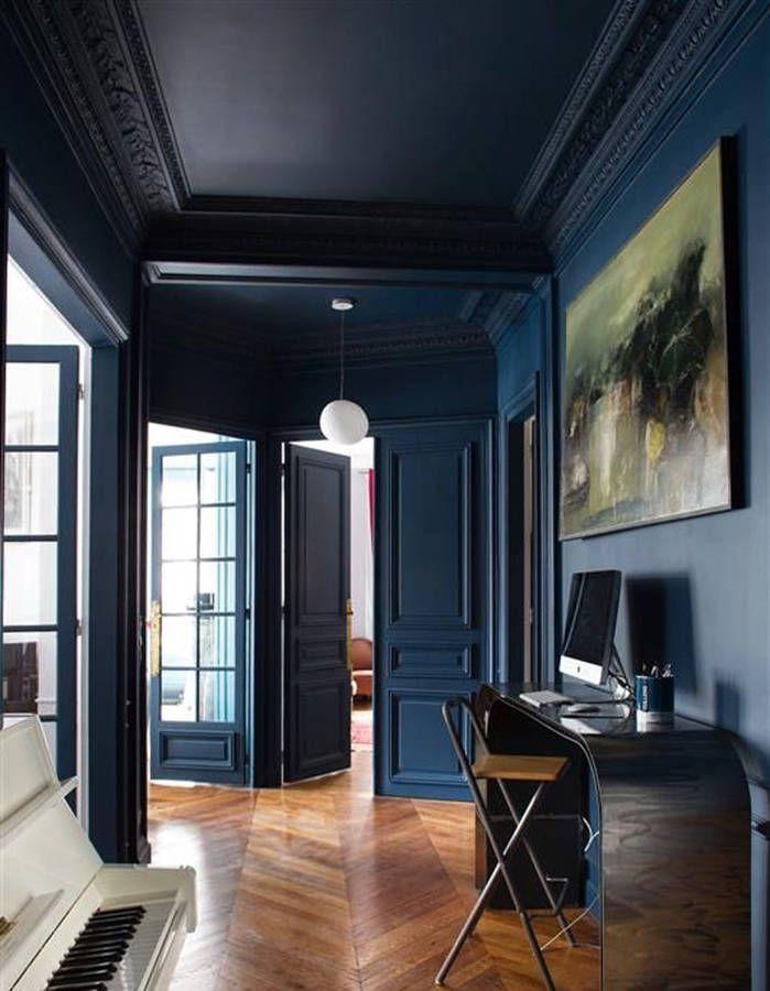 1000 id es sur le th me hall d 39 entr e bleu sur pinterest for Tapisserie originale couloir