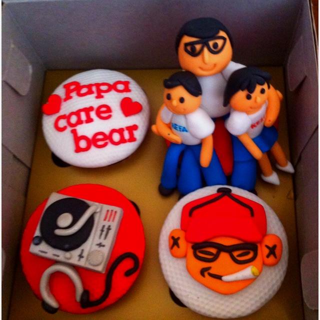 cake papa care bear
