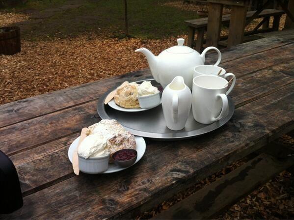 Afternoon tea at Falling Foss Tea Garden, Whitby