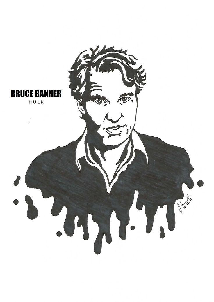 #bruce #banner #hulk #mark #ruffalo #drawing #blackandwhite #marvel #avengers