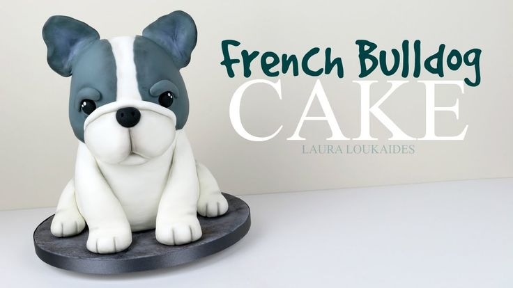 How to Make a 3D French Bulldog Cake - Laura Loukaides