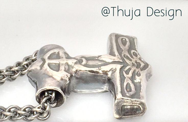 Handmade  silver Thor's Hammer,own model  www.thujadesign.fi  Viikinkiketjut,iso hopeinen Thorin vasara