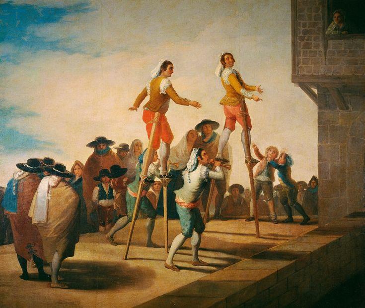 Francisco de Goya ~ De steltlopers ~ 1791-1792 ~ Olieverf op doek ~ 268 x 320 cm. ~ Museo Nacional del Prado, Madrid