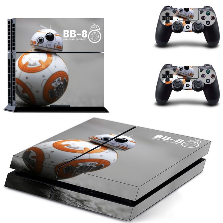 star wars bb 8 app ps4 skin decal for console and controllers