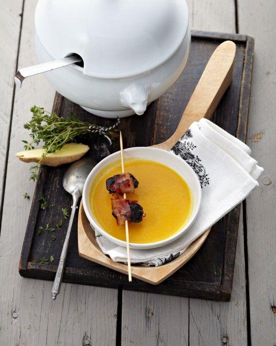 Kürbissuppe mit Speck-Pflaumen - Entspannt kochen & backen - 4 - [ESSEN & TRINKEN]