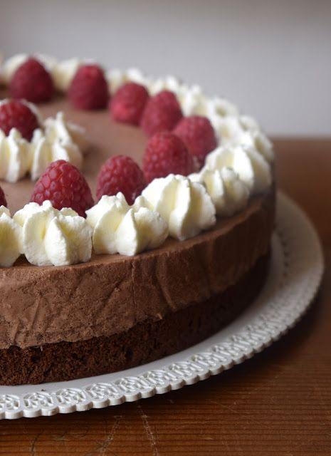 Pain au chocolat: Torta mousse al cioccolato e lamponi... e un anno di Pain au Chocolat!