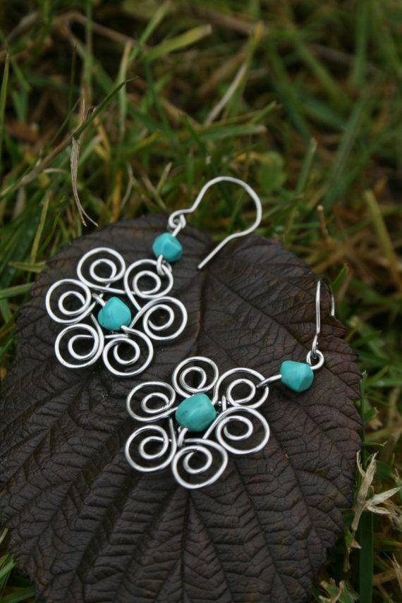 pretty flower earrings