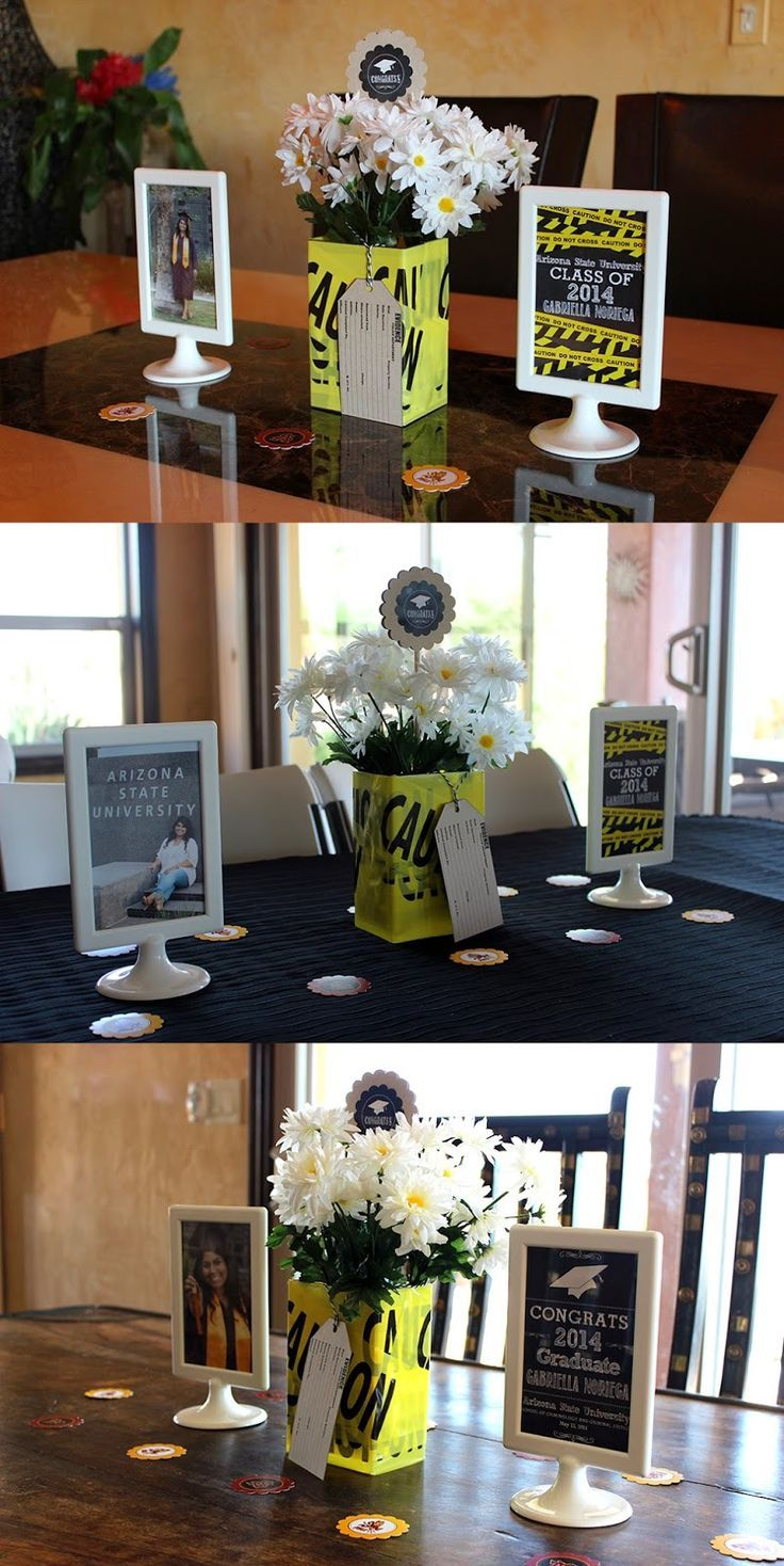 2014 graduation decorations - Creative Graduation Party Decoration Idea Chackboard And Awesome Vase And Flowers