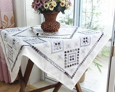 Европейские ткани вышитые скатерти вырез вышитая скатерть холодильник стиральная машина крышка полотенца тумбочки Микроволновая печь крышка ткань