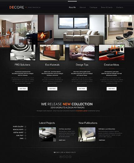 A creative home website design  is awfully important for you to sponsor the products and services that your business offers. #web #webdesign #templates #website