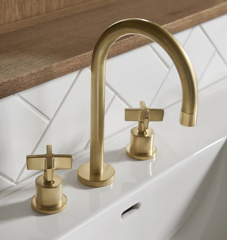 """Durable, functional, and simple in design, our West Slope collection overflows with industrial influences. features a flow rate of 1.5 gallons per minute and fits sinks with 8"""" to 16"""" center hole spacing.  Designed in collaboration with Watermark, a plumbing mainstay of Brooklyn, NY for over 30 years, our collection of timeless solid-brass faucet and shower sets are manufactured, assembled, and finished in Watermark's Brooklyn Factory.  * Solid brass * Designed for widespread (8""""-16""""…"""