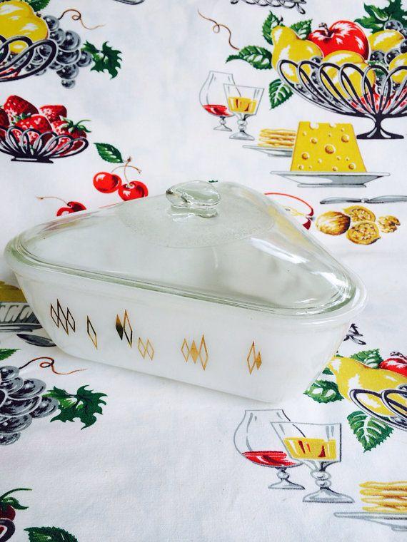 1950s Mid Century Atomic Baking Dish by Inland Glass #vintagekitchen #nonabellevintage #atomic