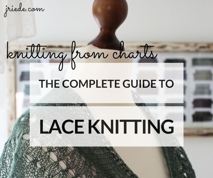 The Complete Guide to Lace Knitting answers all your questions about charts in lace knitting: What are knitting symbols and how are charts being read?