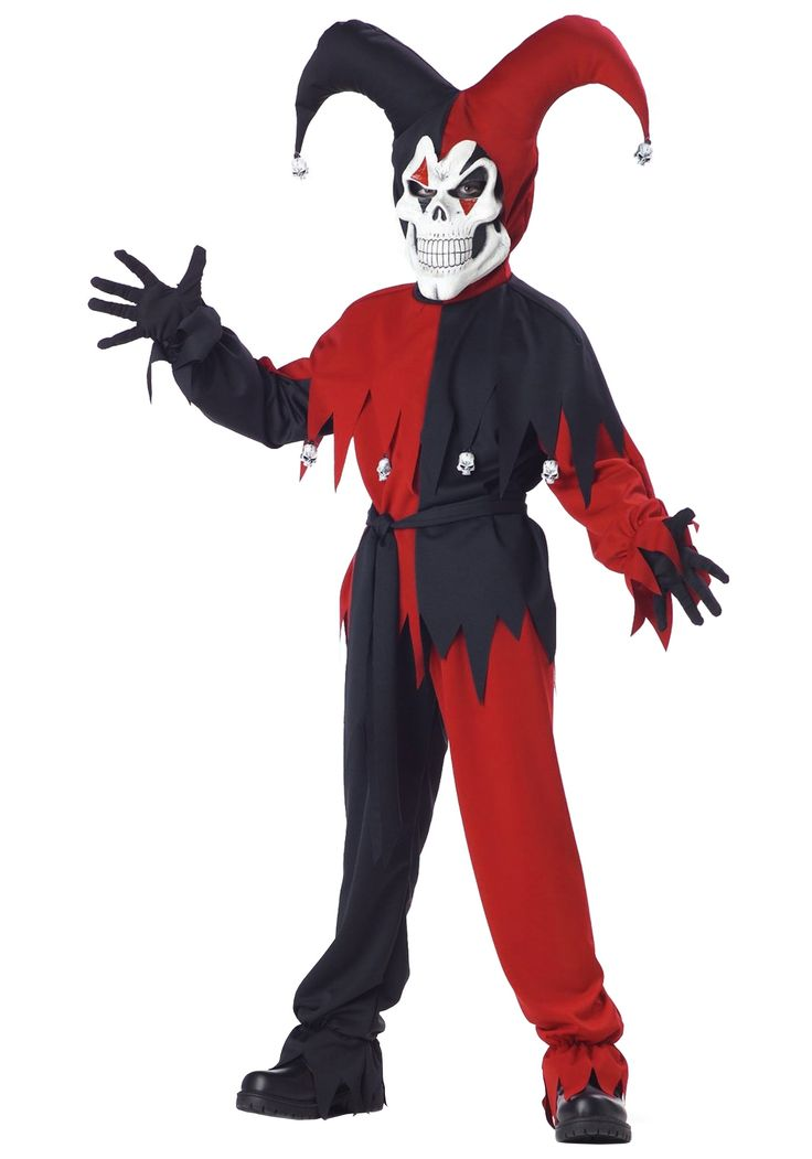 scary halloween costumes | Evil Jester Halloween Costume