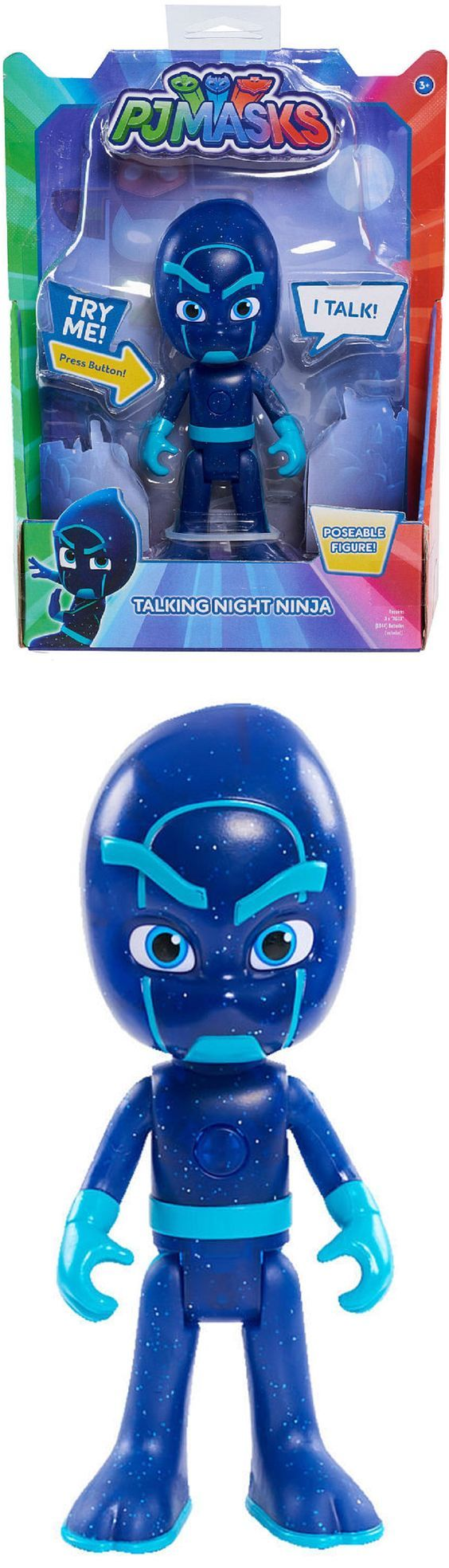 Christmas 2017 gift for our beautiful granddaughter and handsome grandson.  PJ Masks Deluxe 6-inch Talking Night Ninja.  The kids love this along with the talking Owelette, Gekko, Cat Boy, Romeo, and Luna Girl we also got them for Christmas.