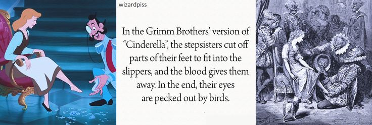 Disney Fairy Tales  vs. Original Fairy Tales