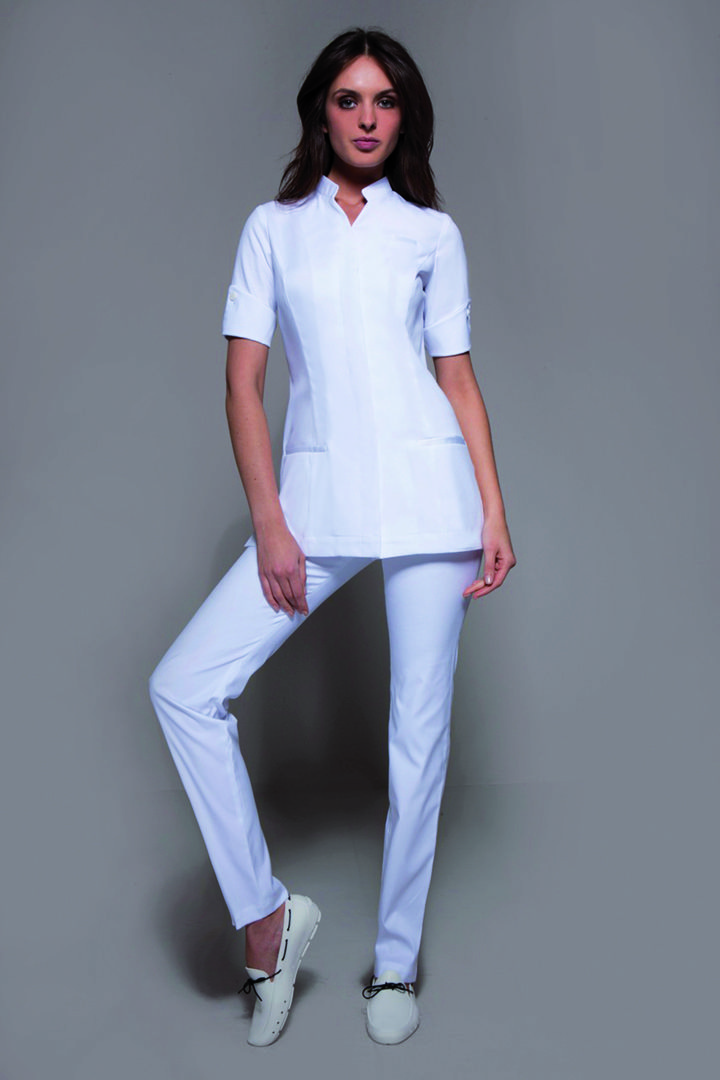 12 best spa uniforms complete ensembles images on pinterest for Spa uniform tops