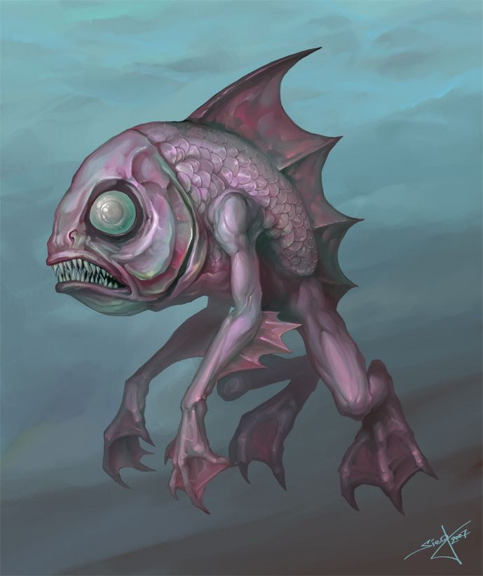 Морские чудовища рисунки
