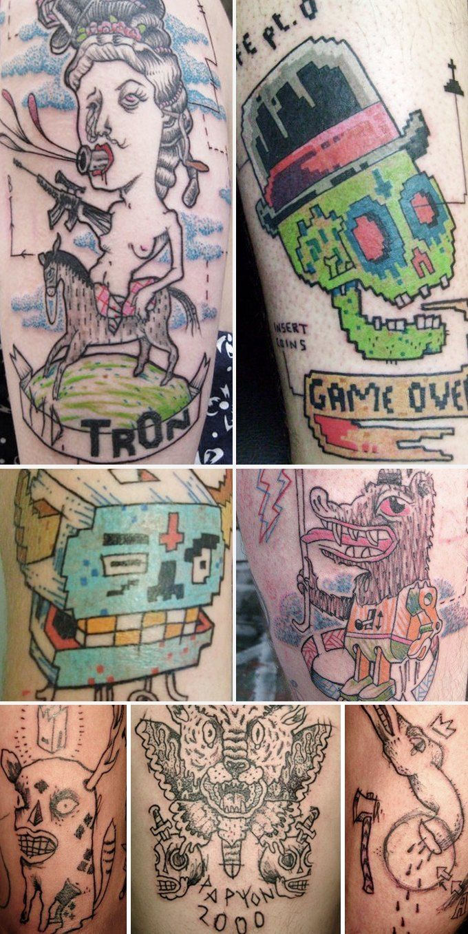 Путеводитель по самому спорному и одновременно художественному жанру татуировок — ар-брюту. Изображение № 20.
