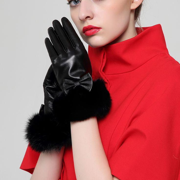 Зимние перчатки лучших овчины из натуральной кожи перчатки женские зимние водительские перчатки теплые 5426