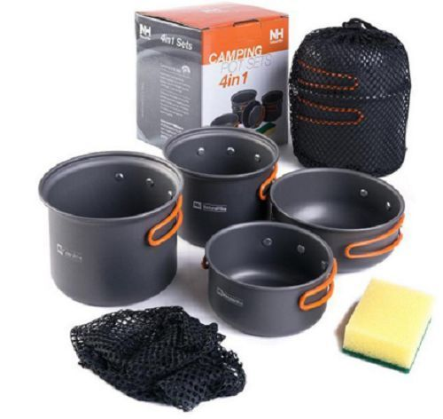 Camping Cookware Tools Kitchen Gadget Bowl Hiking Survival Portable Pots Pans #portablecookware