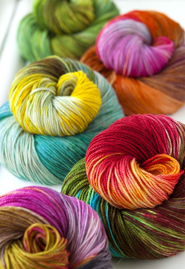 Becoming Art  yarns Theia Fingering. A hand-dyed yarn made of superwash merino, cashmere and silk. yum.: