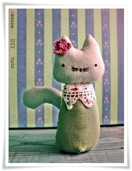 Pattern for stuffed kitty