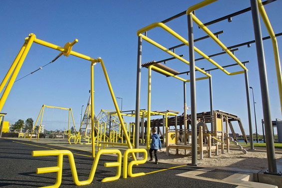 Playground at Hart's Mill Surrounds, Port Adelaide, Australia by ASPECT Studios. Click image for link to full profile and visit the slowottawa.ca boards >> https://www.pinterest.com/slowottawa