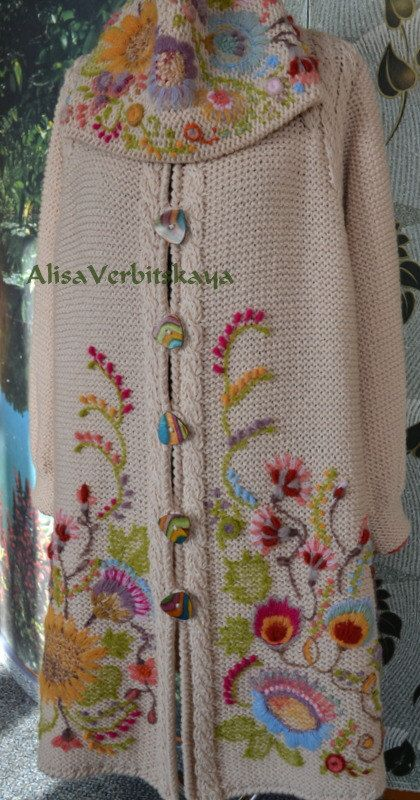 Coat with embroidery 2 by AlisaSonya on Etsy