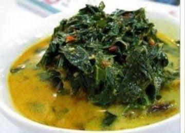 cassava leaves Curry ( Gulai daun singkong ) indonesian recipe | Indonesian Original Recipes