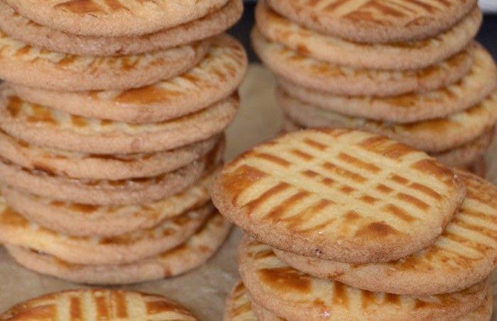 Francouzské slané máslové sušenky