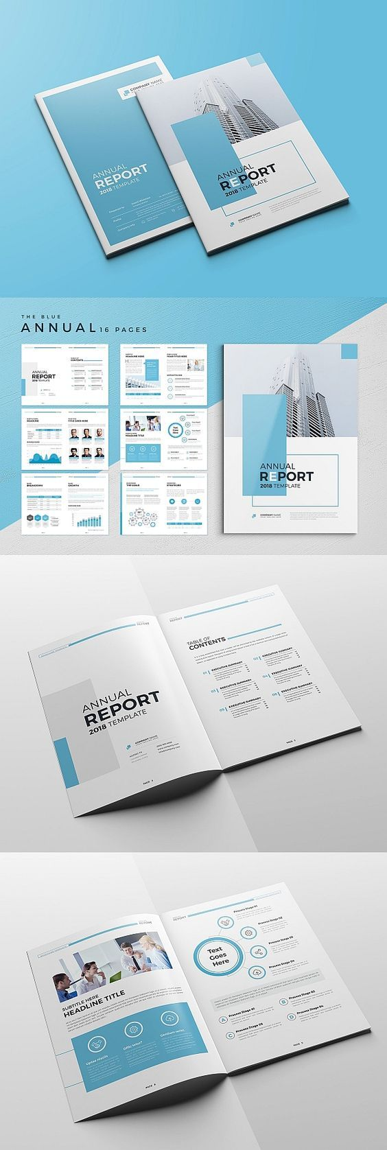 Annual Report Brochure Design Professional Report Creative
